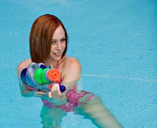Dívka ve vodě