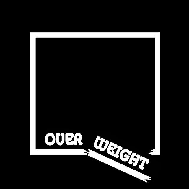 zlomený čtverec s nápisem over weight