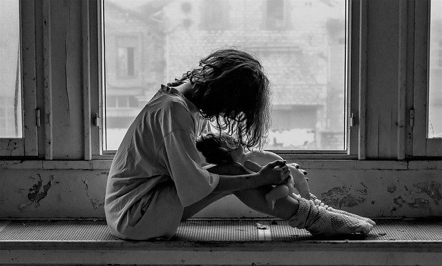 Žena v depresi
