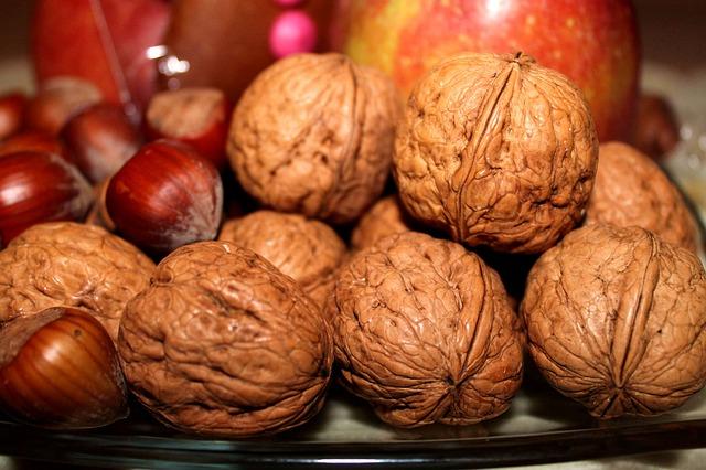 vlašské a lískové ořechy ve skořápce